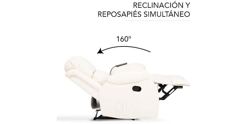Sillón reclinable cama relax